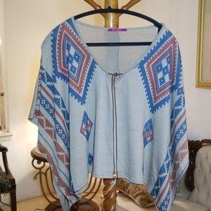 Julie's Closet Poncho Blouse